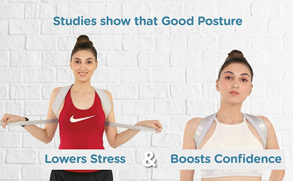 Good posture lowers stress and boosts confidence.
