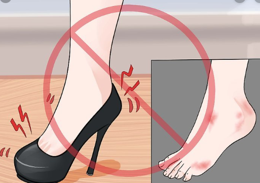 Avoid high heels during periods