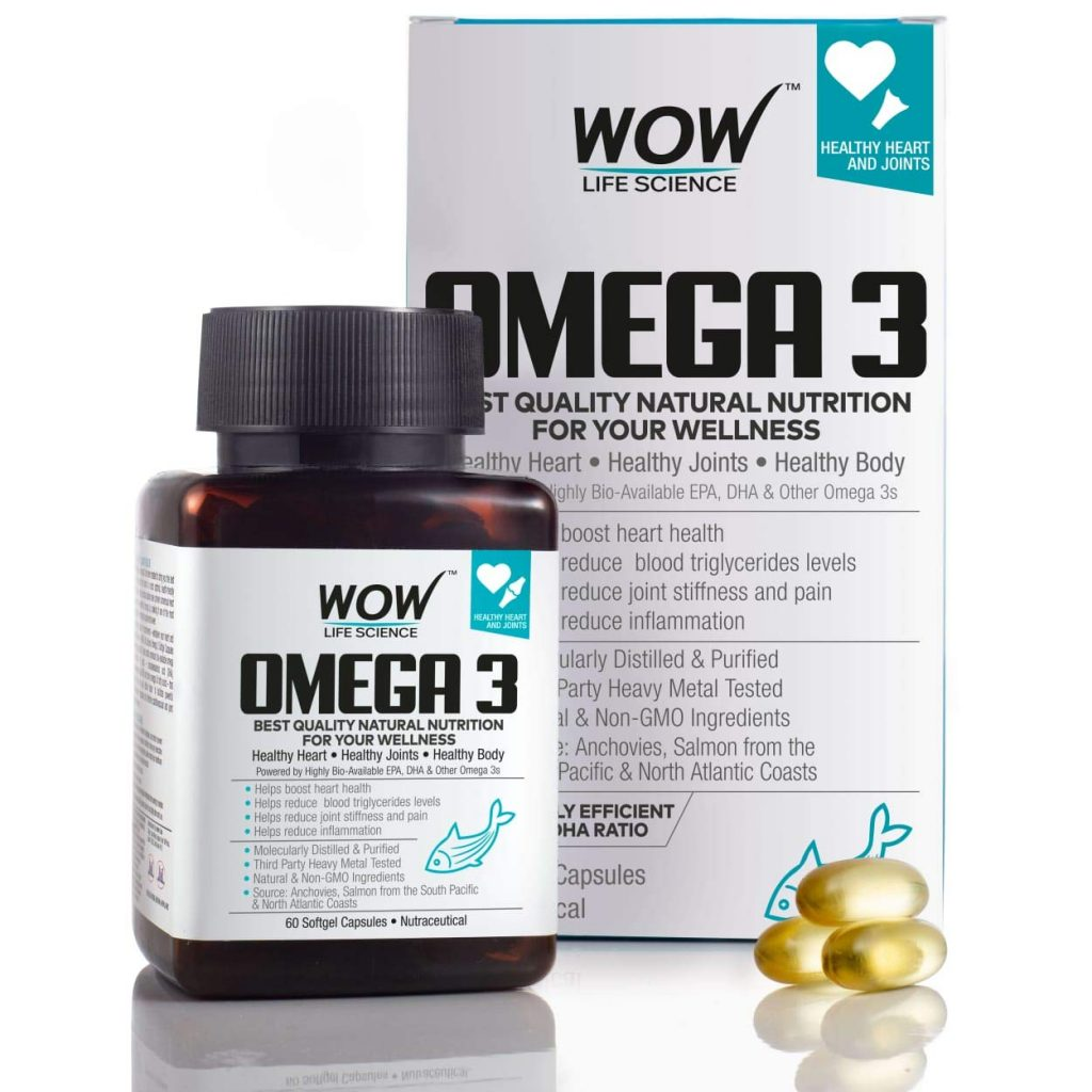 WOW Omega-3 fish oil capsules - 1000 mg